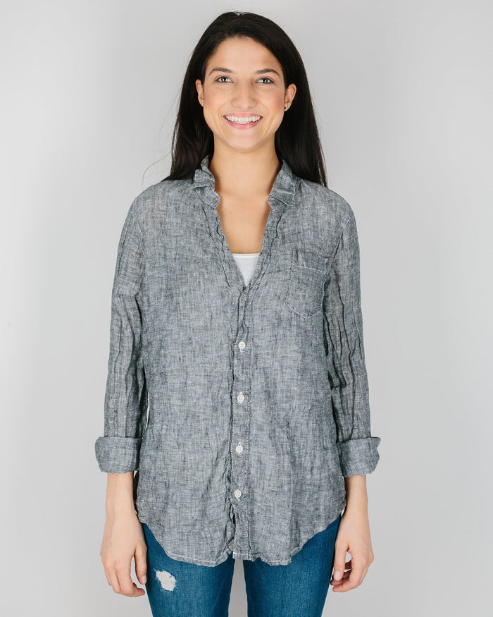 CP Shades Clothing Black Chambray / XS Sloane Blouse in Black Chambray