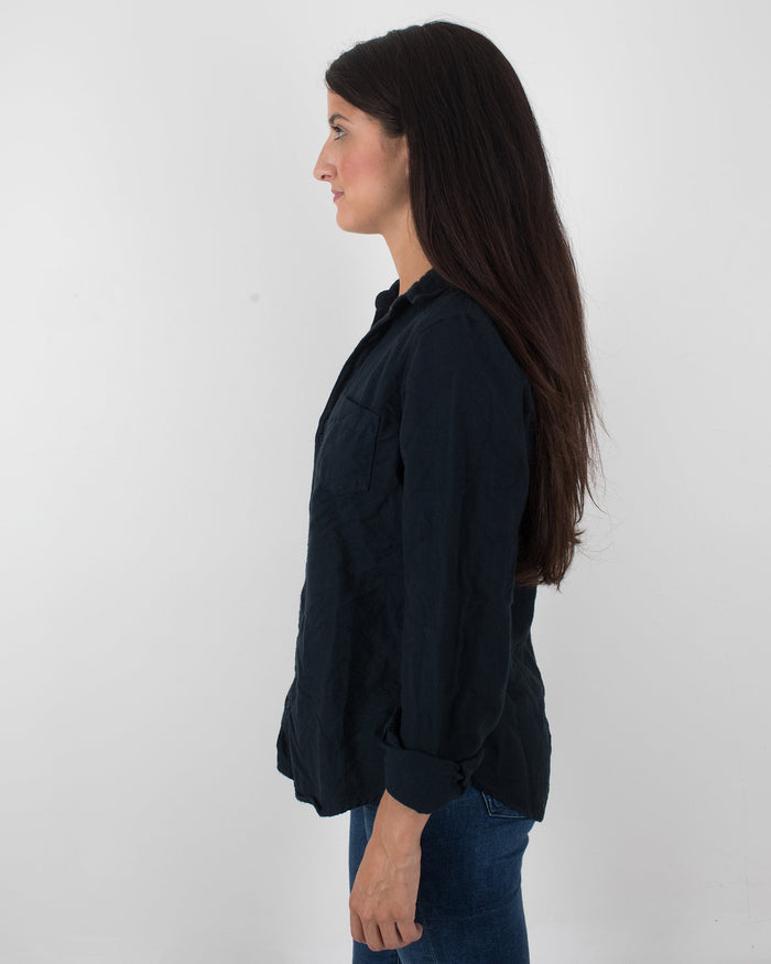 CP Shades Clothing Ink / XS Sloane Blouse in Cotton Flannel