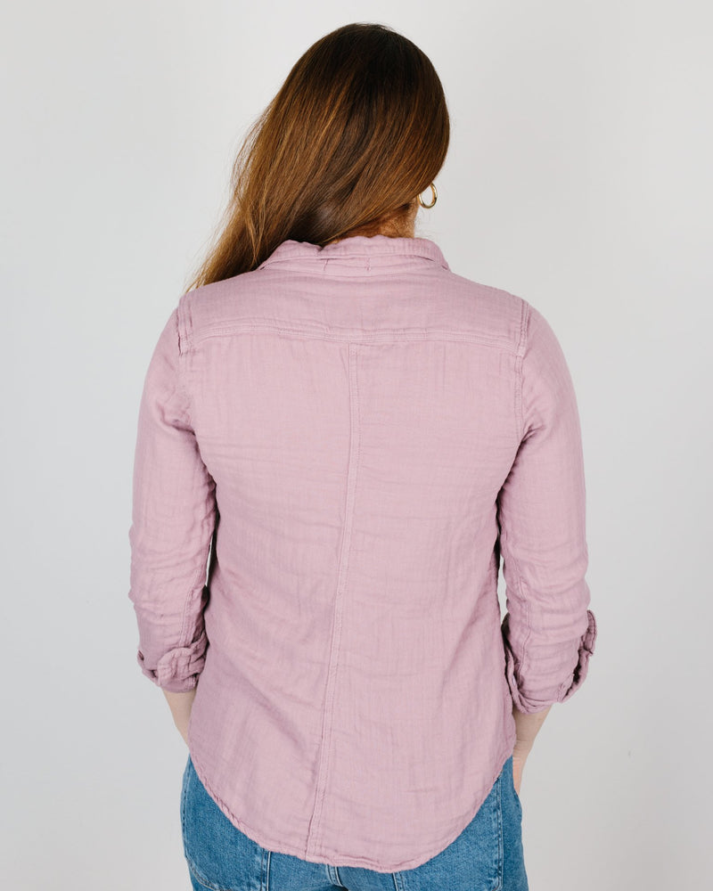 CP Shades Clothing Sloane Blouse in Hyacinth Cotton Gauze