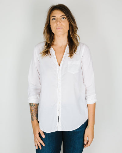 CP Shades Clothing Sloane Blouse in Ivory Linen Twill