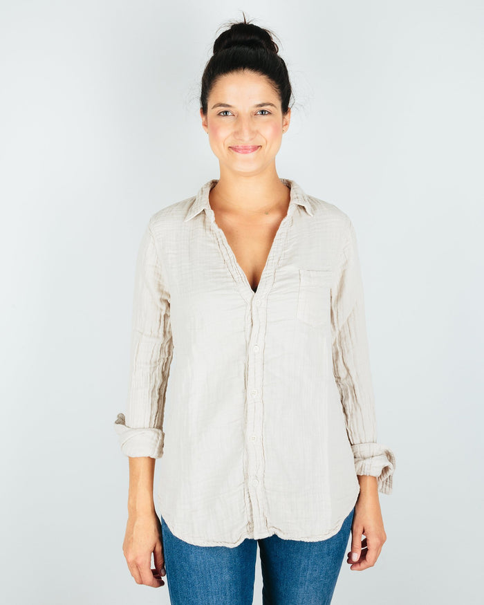 CP Shades Clothing Oat / XS Sloane Blouse in Oat Cotton Gauze