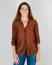 CP Shades Clothing Sloane Blouse in Pluot Cotton/Silk