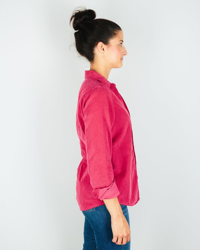 CP Shades Clothing Sloane Blouse in Raspberry Micro Cord