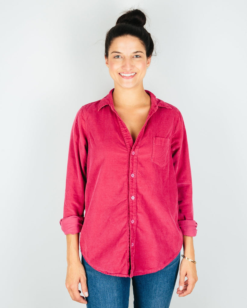 CP Shades Clothing Raspberry / XS Sloane Blouse in Raspberry Micro Cord