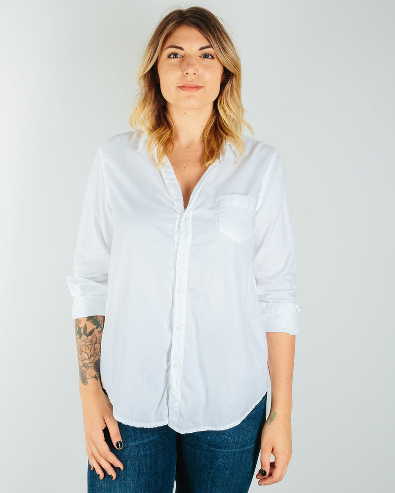 CP Shades Clothing White / XS Sloane Blouse in White Cotton Twill