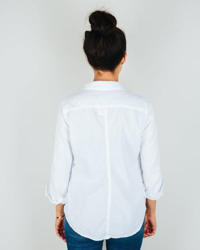 CP Shades Clothing Sloane Blouse in White Micro Cord