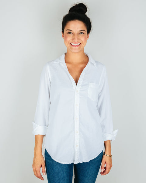 CP Shades Clothing White / XS Sloane Blouse in White Micro Cord