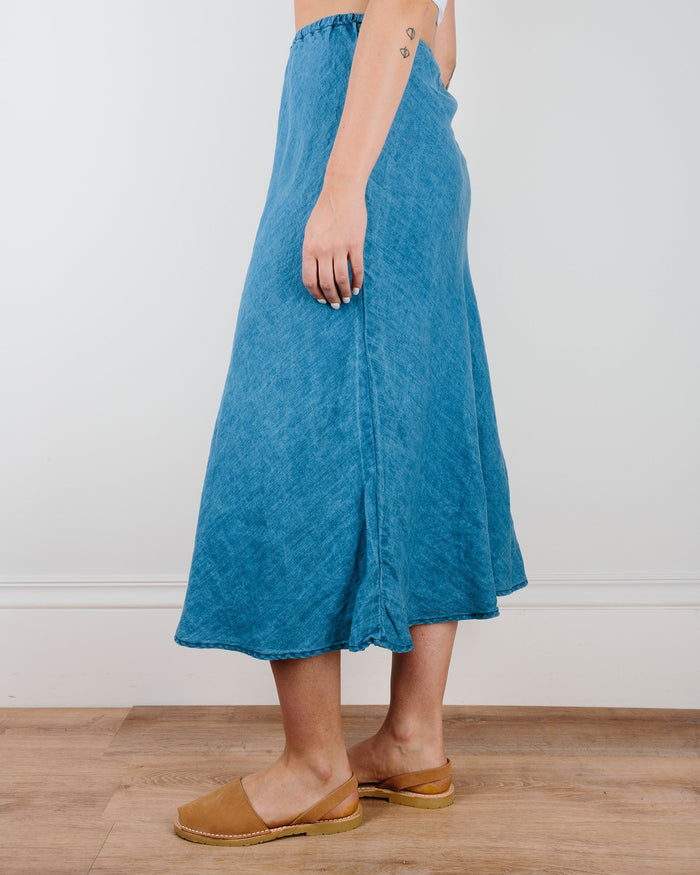 CP Shades Clothing Bleach Indigo Twill / XS Tanya Bias Cut Skirt in Bleach Indigo Twill