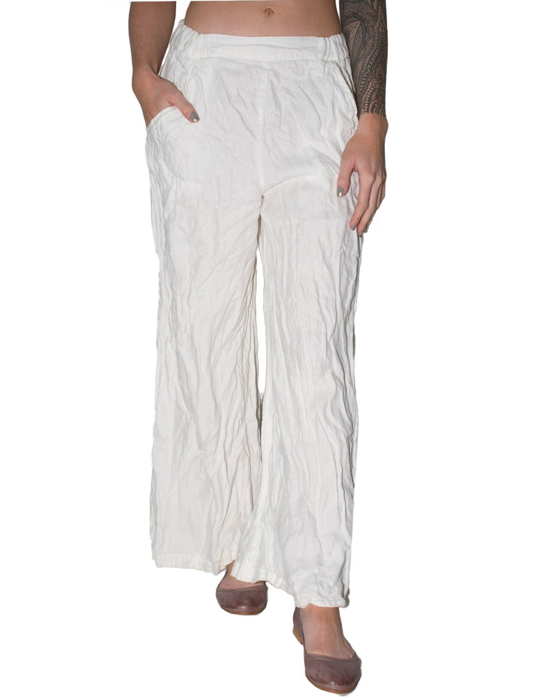 CP Shades Clothing White / XS Wendy Pant - HW Linen Twill