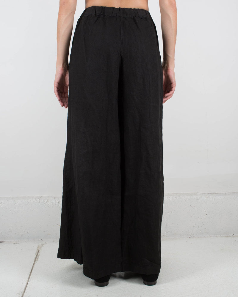 CP Shades Clothing Wendy Pant in Black Heavy Weight Linen