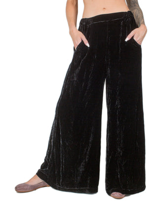 CP Shades Clothing Black / L Wendy Pant in Silk Velvet