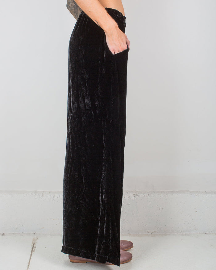 CP Shades Clothing Black / XS Wendy Pant in Silk Velvet