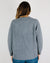 Demylee Clothing XS / Meduim Heather Grey Anastasia Patterned Crew Sweater in Medium Heather Grey