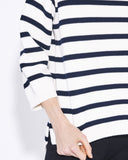 Demylee Clothing Annabelle Sweater in Navy & White