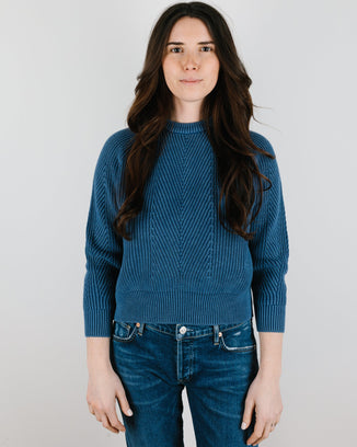 Demylee Clothing Chelsea Raglan in Blue Denim