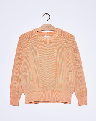 Demylee Clothing Cantaloupe / XS Chelsea Raglan Sweater in Cantaloupe