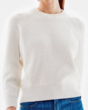 Demylee Clothing Chelsea Raglan Sweater in White