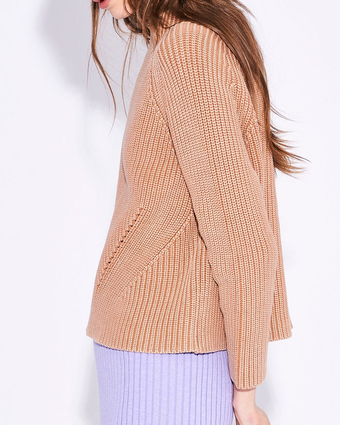 Demylee Clothing Daphne Raglan Sweater in Cantaloupe