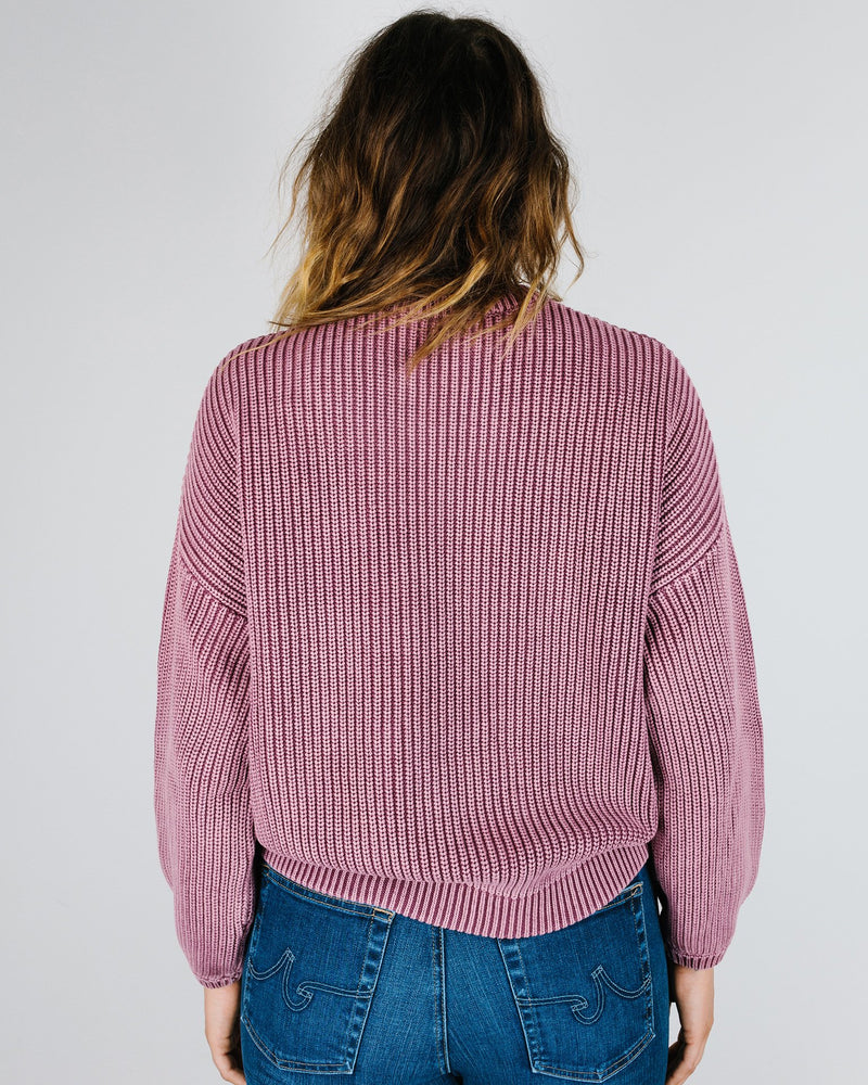 Demylee Clothing Grant Sweater in Berry