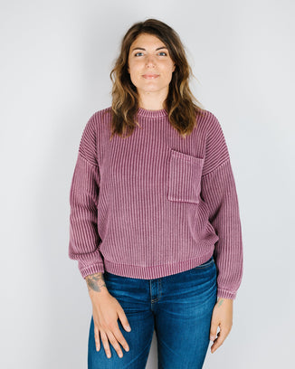 Demylee Clothing Berry / XS Grant Sweater in Berry