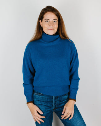 Demylee Clothing Hannes Turtleneck in Lapis