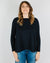 Demylee Clothing Jillian Boatneck Sweater in Navy