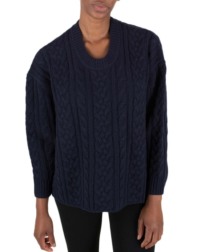 Demylee Clothing Navy / XS Lucetta Fisherman Sweater