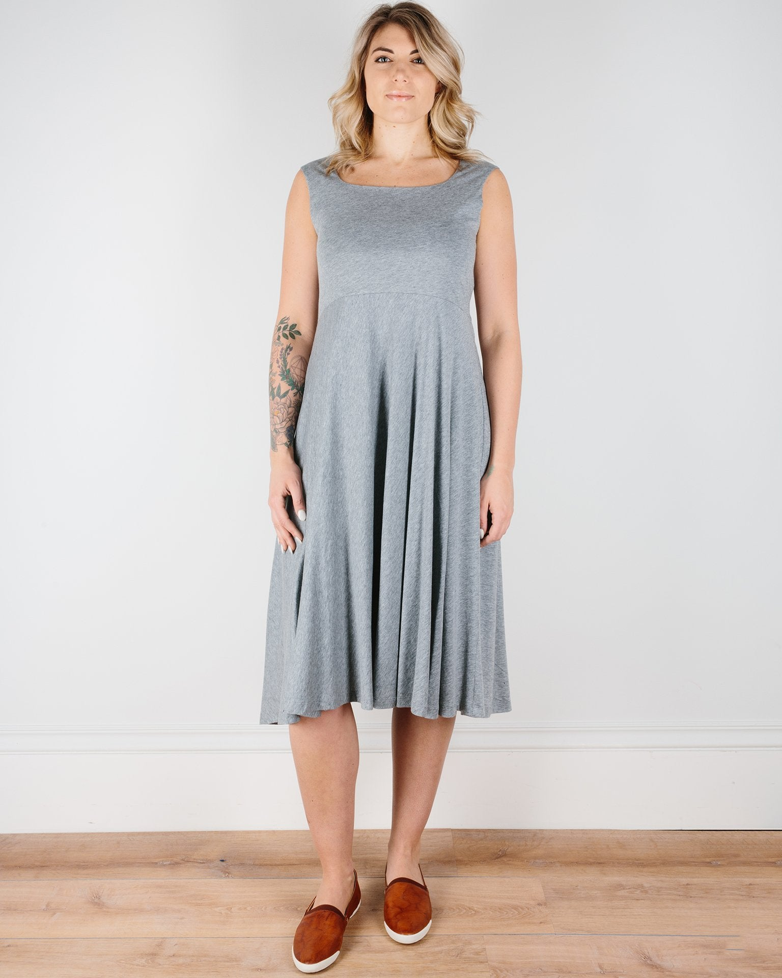 Demylee Clothing Heather Grey / XS Quinn Sleeveless Dress