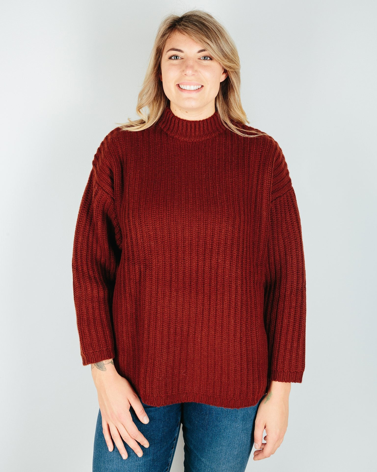 Demylee Clothing Sharon Sweater in Firewood