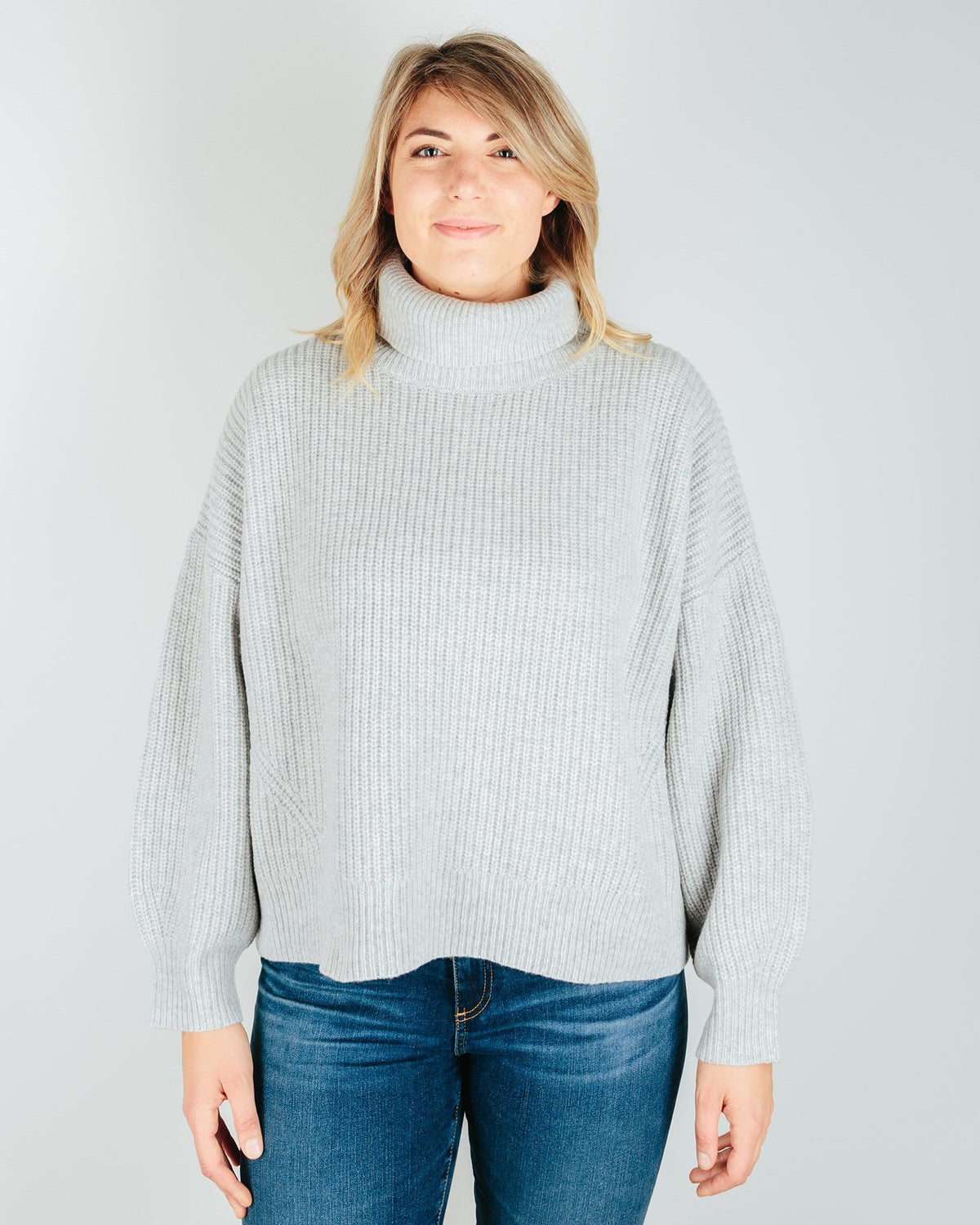 Demylee Clothing Light Heather Grey / XS Tillie Turtleneck Sweater in Light Heather Grey