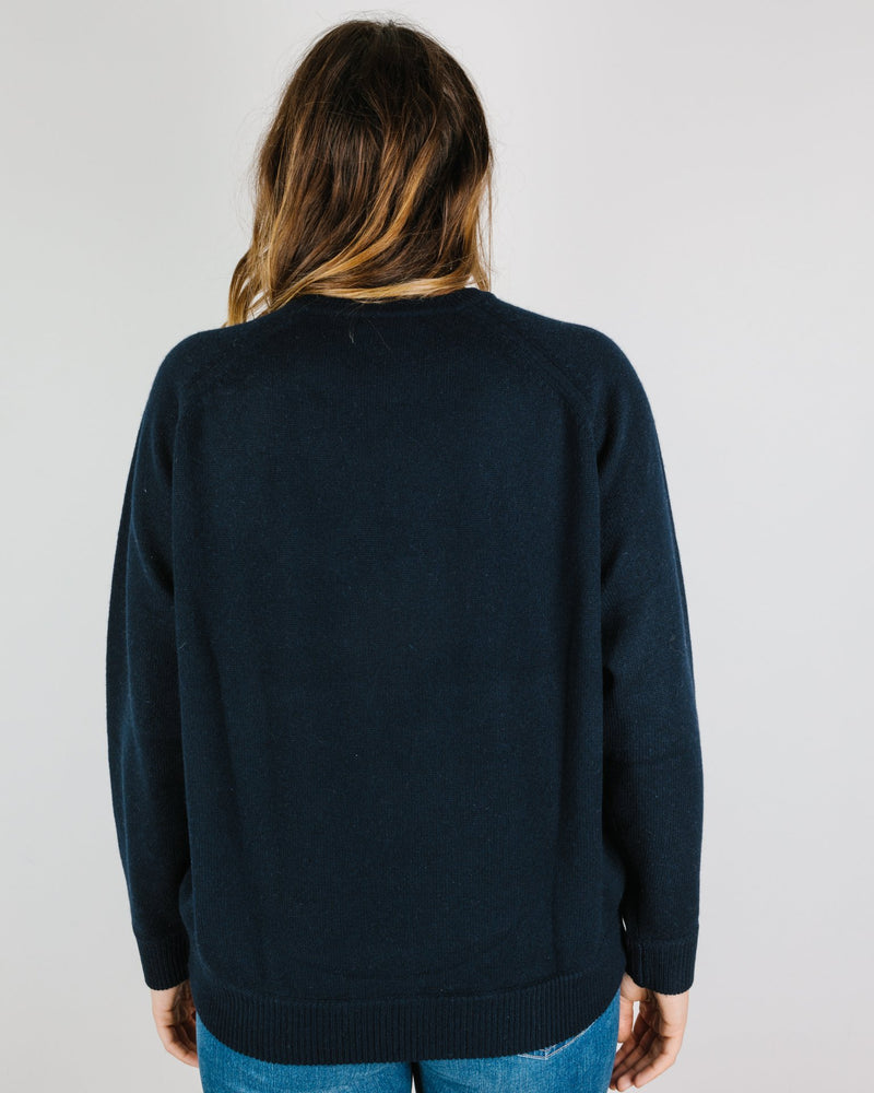 Demylee Clothing Yael Crewneck Sweater in Navy