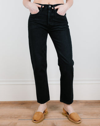 Edwin Denim Hana Crop in Heist