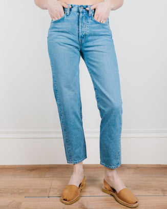 Edwin Denim Hana Crop in Rescue