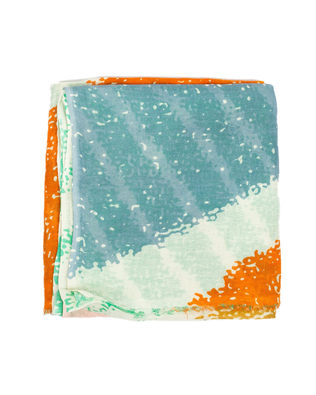 Épice Accessories Emerald / O/S Abstract Print Scarf in Emerald