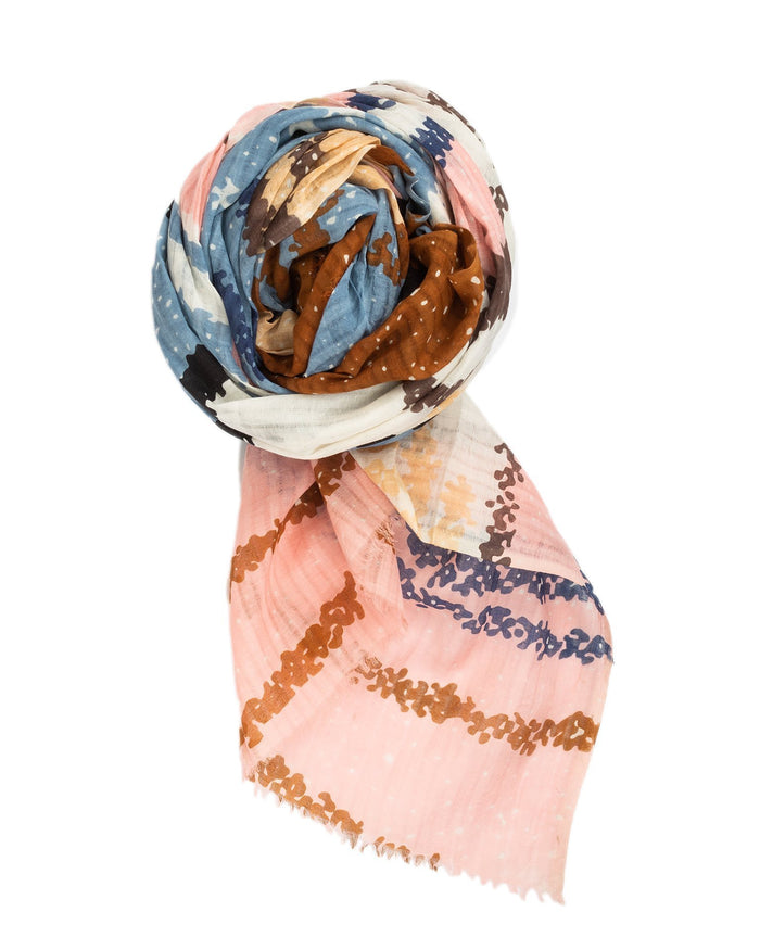Épice Accessories Pigeon / O/S Abstract Print Scarf in Pigeon