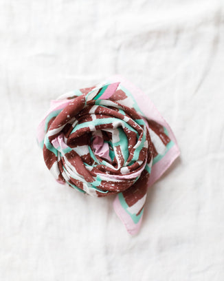 Épice Accessories Broken Stripes Bandana in Prune