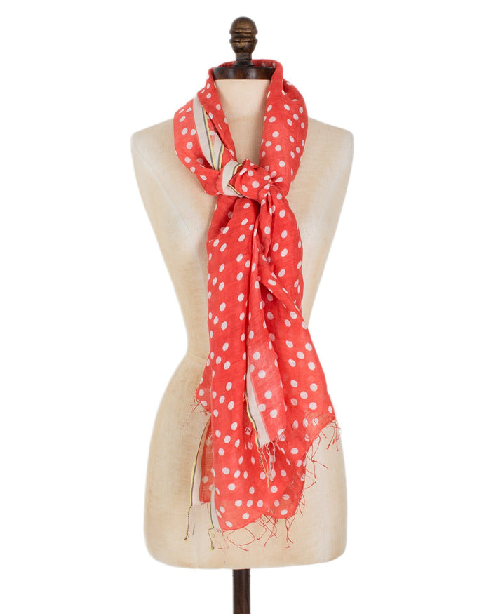 Épice Accessories Coral / O/S Dots Scarf