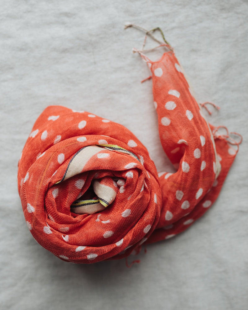 Épice Accessories Dots Scarf in Coral