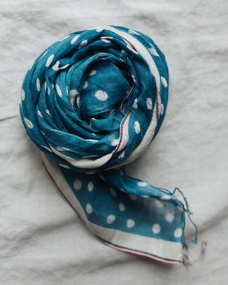 Épice Accessories Dots Scarf in Ocean