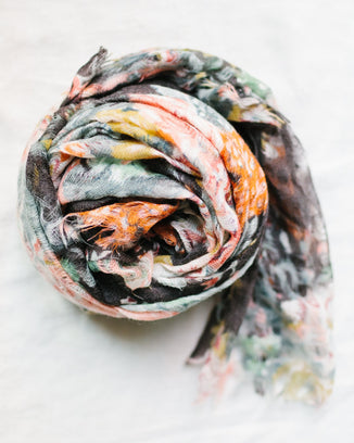 Épice Accessories O/S / Black Fleur 1 Scarf in Black