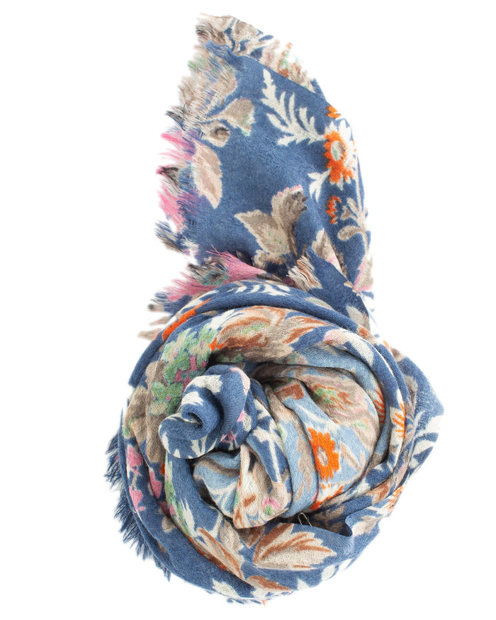 Épice Accessories Blue / O/S Fleur 2 Scarf in Blue