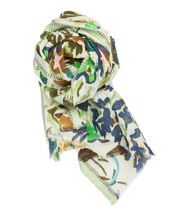 Épice Accessories Green / O/S Floral Scarf