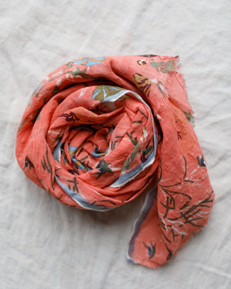 Épice Accessories Floral Scarf in Corail 2192