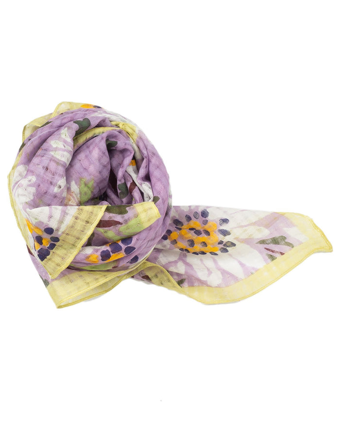 Épice Accessories Blue / O/S Floral Square Scarf