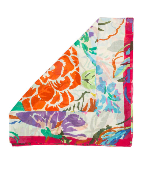 Épice Accessories Carrot / O/S Floral Square Scarf