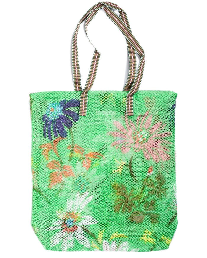 Épice Accessories Green / O/S Large Floral Mesh Bag