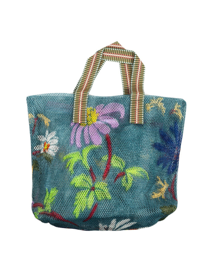 Épice Accessories Denim / O/S Medium Floral Mesh Bag