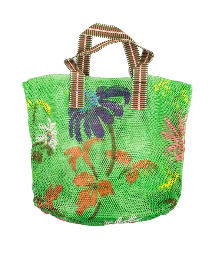 Épice Accessories Green / O/S Medium Floral Mesh Bag