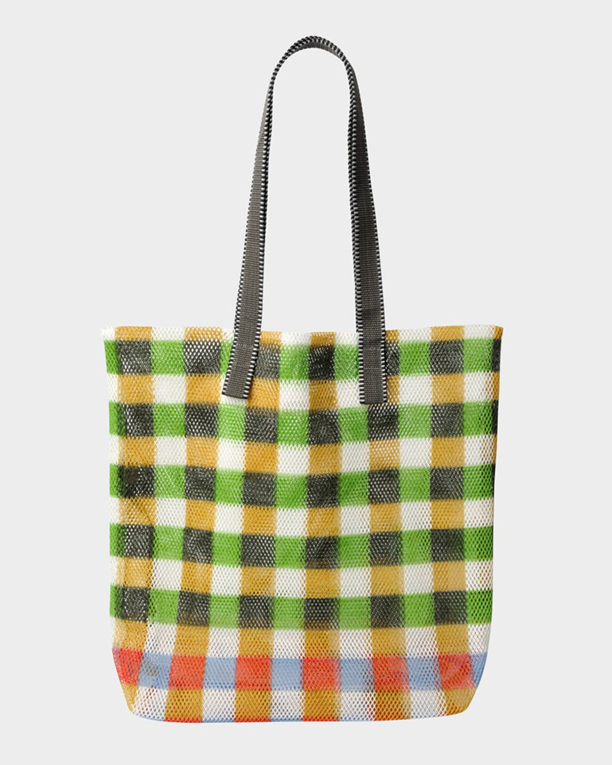 Épice Accessories Plaid Large Tote in Grass
