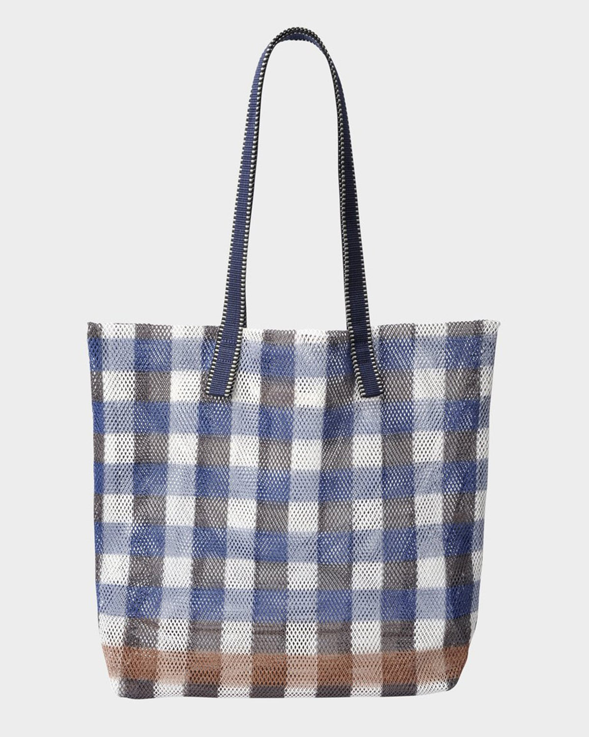 Épice Accessories Plaid Large Tote in Ultramarine